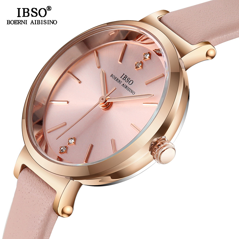 IBSO Women Watches 8 MM Ultra Thin Wrist Luxury Female Hours Clock Fashion Montre Femme Quartz Ladies Watch Relogio Feminino-in Women's Watches from Watches