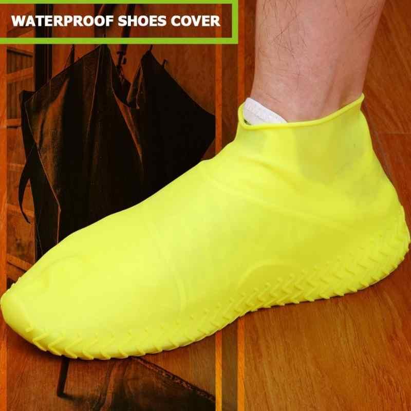 למחזור עמיד למים סיליקון רובוטי נעלי כיסוי נשי החלקה גברים גשם מגפי נשים גשום יום גמישות נעלי מגיני