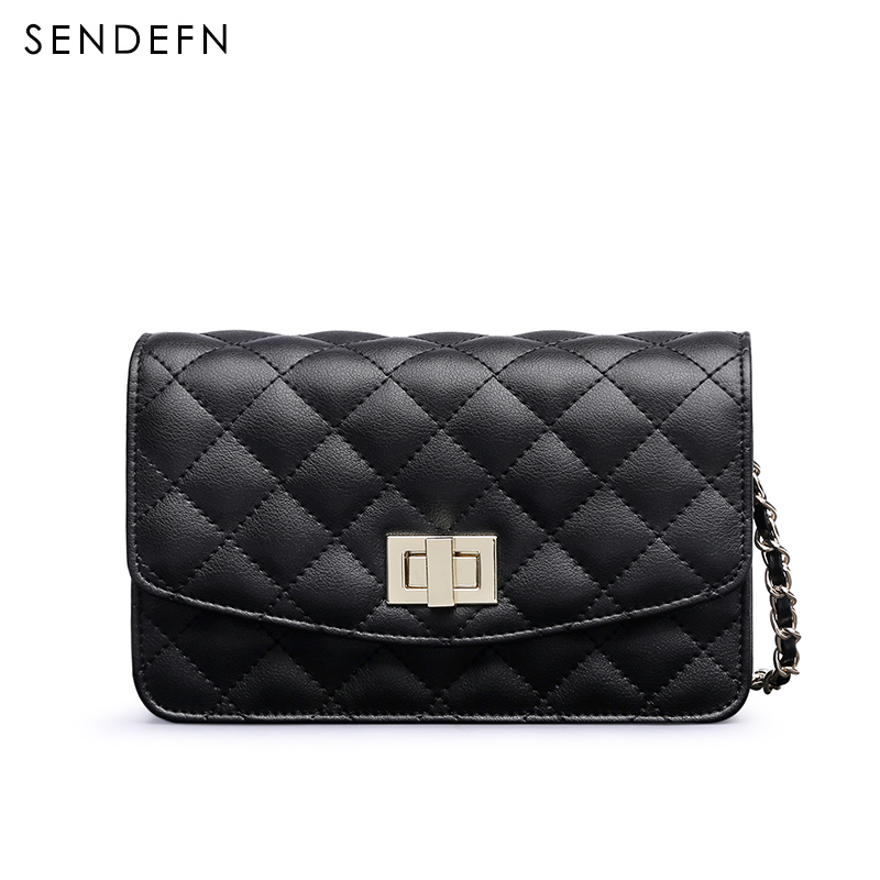 Sendefn High Quality Luxury Ladies Casual Crossbody Bags 2018 New Leather Small Diamond Lattice Shoulder Bag Women Cellphone Bag цена