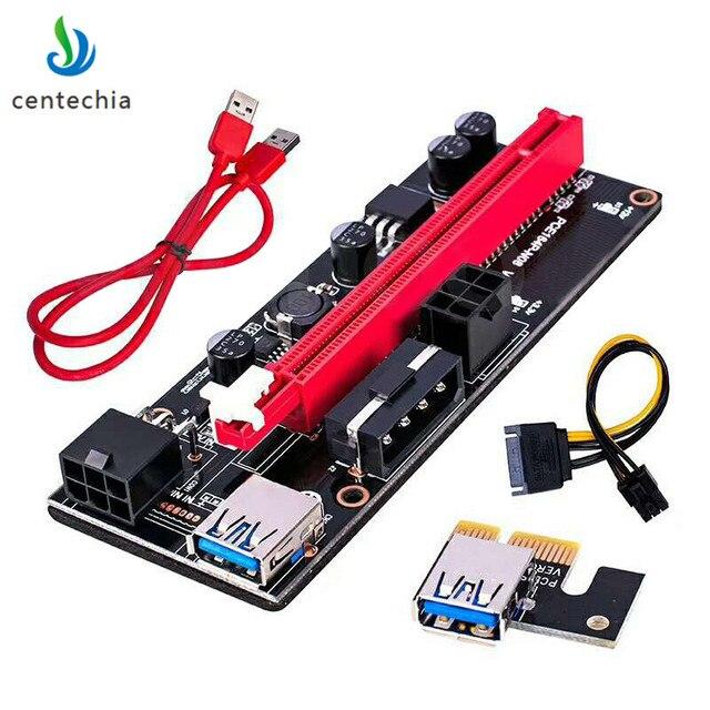 Высокое качество VER 009 S PCI-E 1X к 16X LER Riser Card удлинитель адаптер PCI Express USB 3,0 кабель питания для BTC