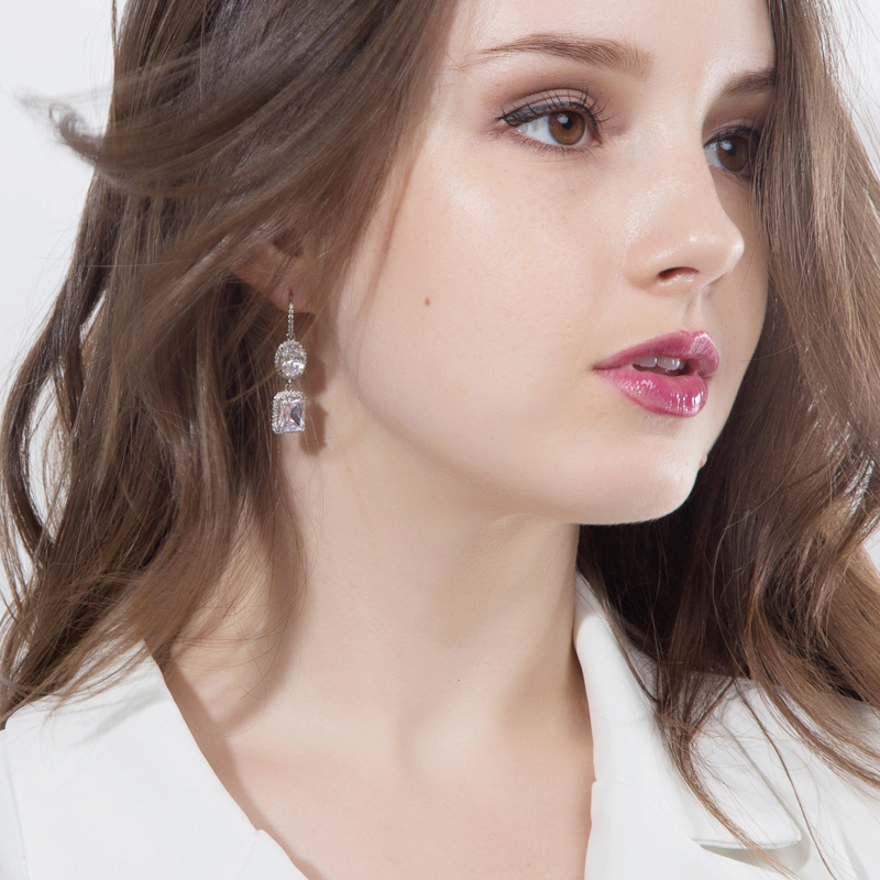 Yellow Crystal Drop Earrings 8