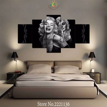5 Шт. / Компл. HD Камень Плюмерия Белый Цветок Живопись на Холсте Картины для Украшения Дома