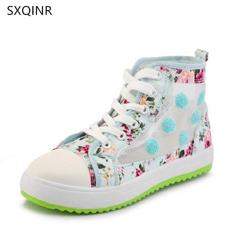 Летний Стиль повседневные сандалии с дышащей сеткой Для женщин девочек повседневная обувь sandalias сладкий высокие Студенческая прогулочная ...
