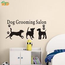Dog Grooming Salon DIY Wall Art Decal Decoration Vinyl Removable Waterproof Wall Stickers Home Decor Pet Shop Wall Art Murals
