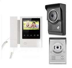 Xinislu novo item toque chave lcd monitor a cores 4.3 telefone da porta de vídeo noite versão intercomdoorbell sistema vídeo segurança em casa 1v1