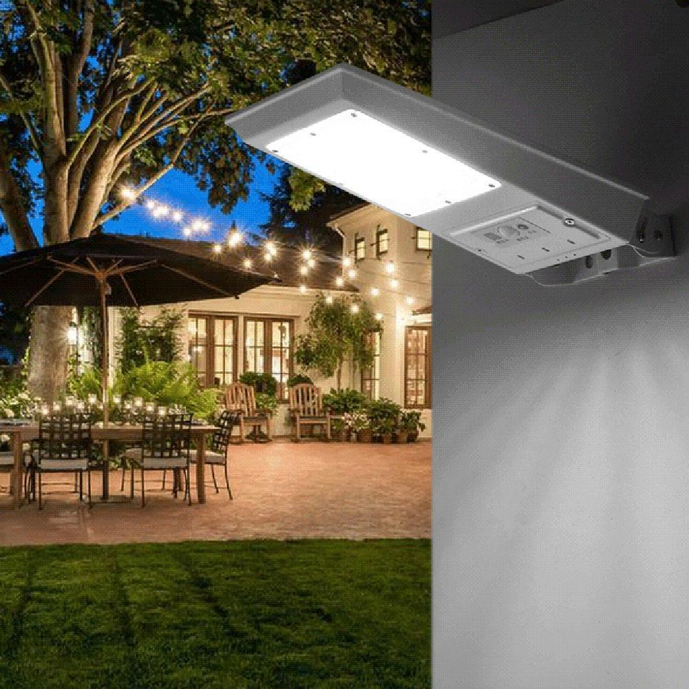 20W Solar Powered LED Street Light Outdoor Waterproof Motion Sensor LED Pole Wall Street Path Light For Garden