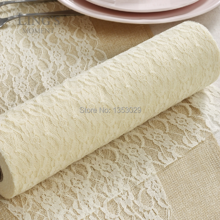 livraison gratuite 3 rouleaux crme couleur dentelle rouleau tissu ruban ruban de mariage de pays dentelle - Chemin De Table Color