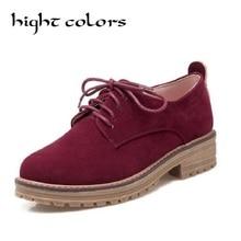 Новинка; женская обувь на плоской подошве в стиле ретро; замшевые женские оксфорды на шнурках; модная повседневная женская обувь; классическая обувь для учебы и работы