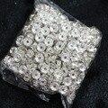 Plata color Crystal Rhinestone 6mm 8mm 10mm Rondelle Espaciador de Los Granos 500 Joyería Ingredientes unids/pack B846