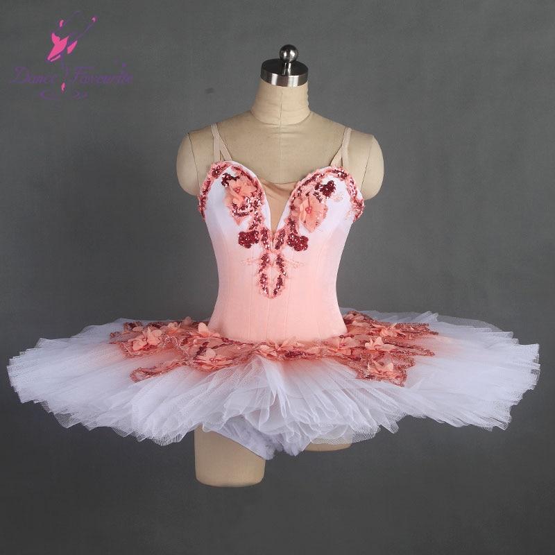 Nice design pink professional dance costume ballet tutu ballerina classical pancake tutu girl & women customer size ballet tutu