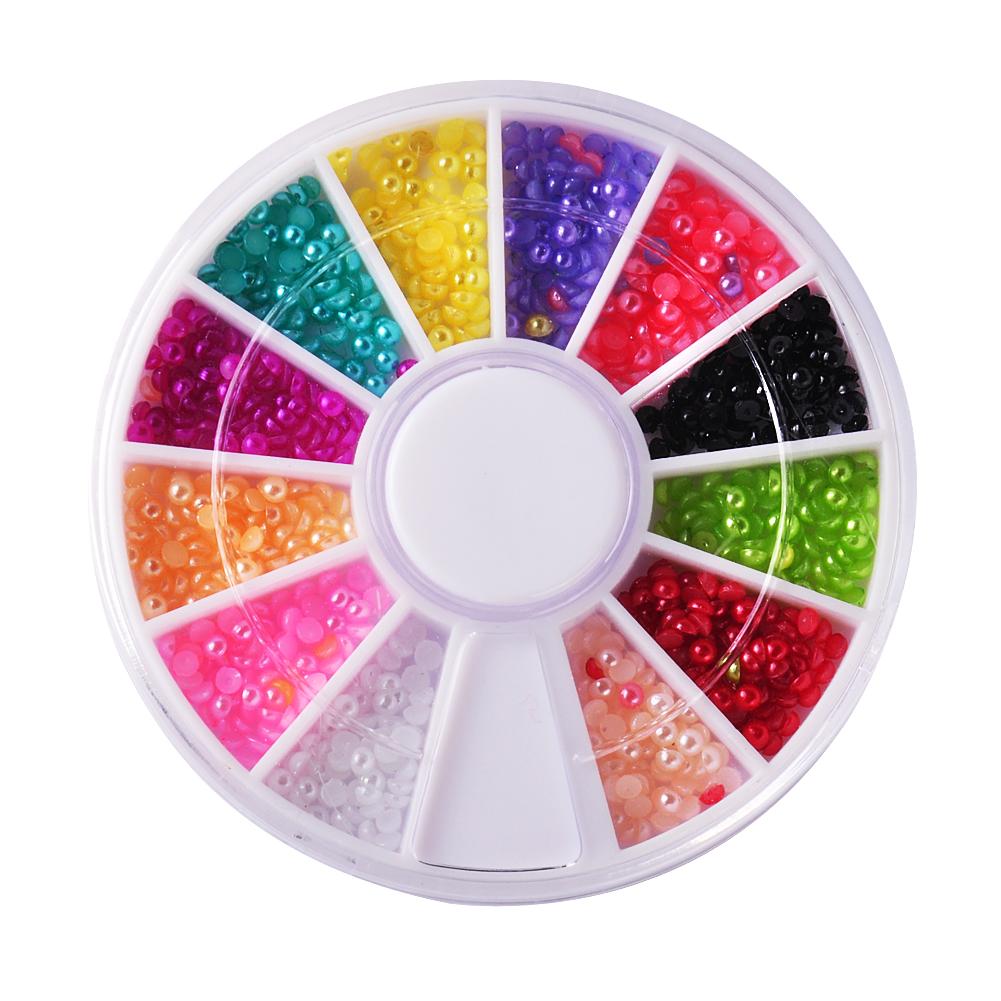 Biutee 12 colors nail rhinestones acrylic nail art for Acrylic nail decoration supplies
