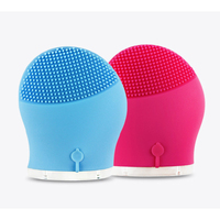 Portable Waterproof Silicone Electric face cleansing instrument Mini face massage cleaner For Home Use