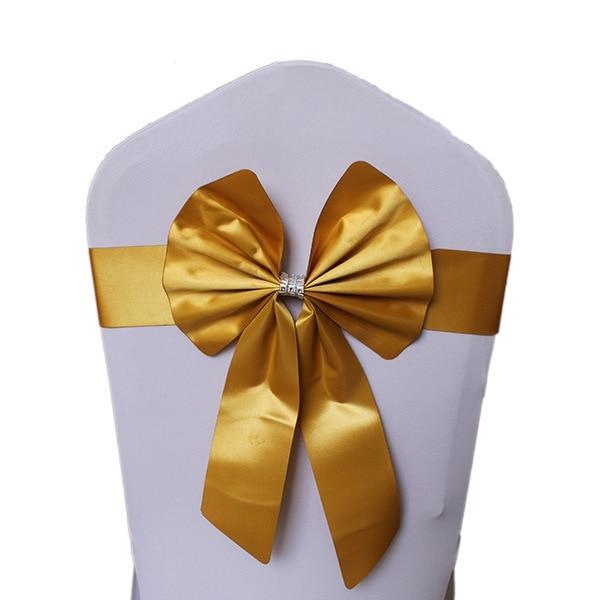 Noeud de Chaise Mariage Sashes узел бант на свадебный стул галстук украшение Stuhl Schleifen Hochzeit ssarfa Fajin Stoel Sjerp - Цвет: 006