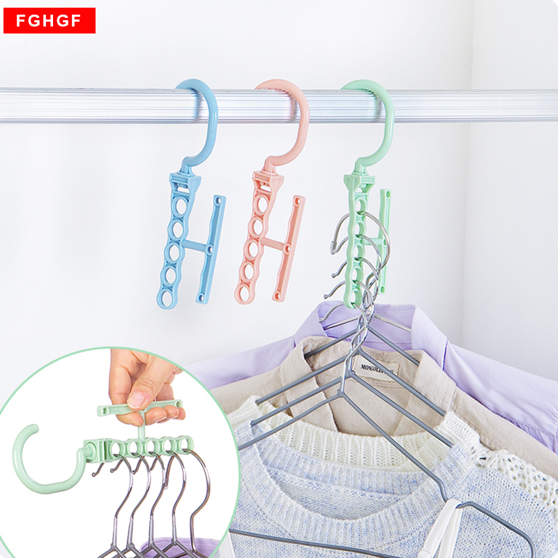 Hot Selling Five hole plastic drying laundry clothes hangers racks Multifunction bedroom ...