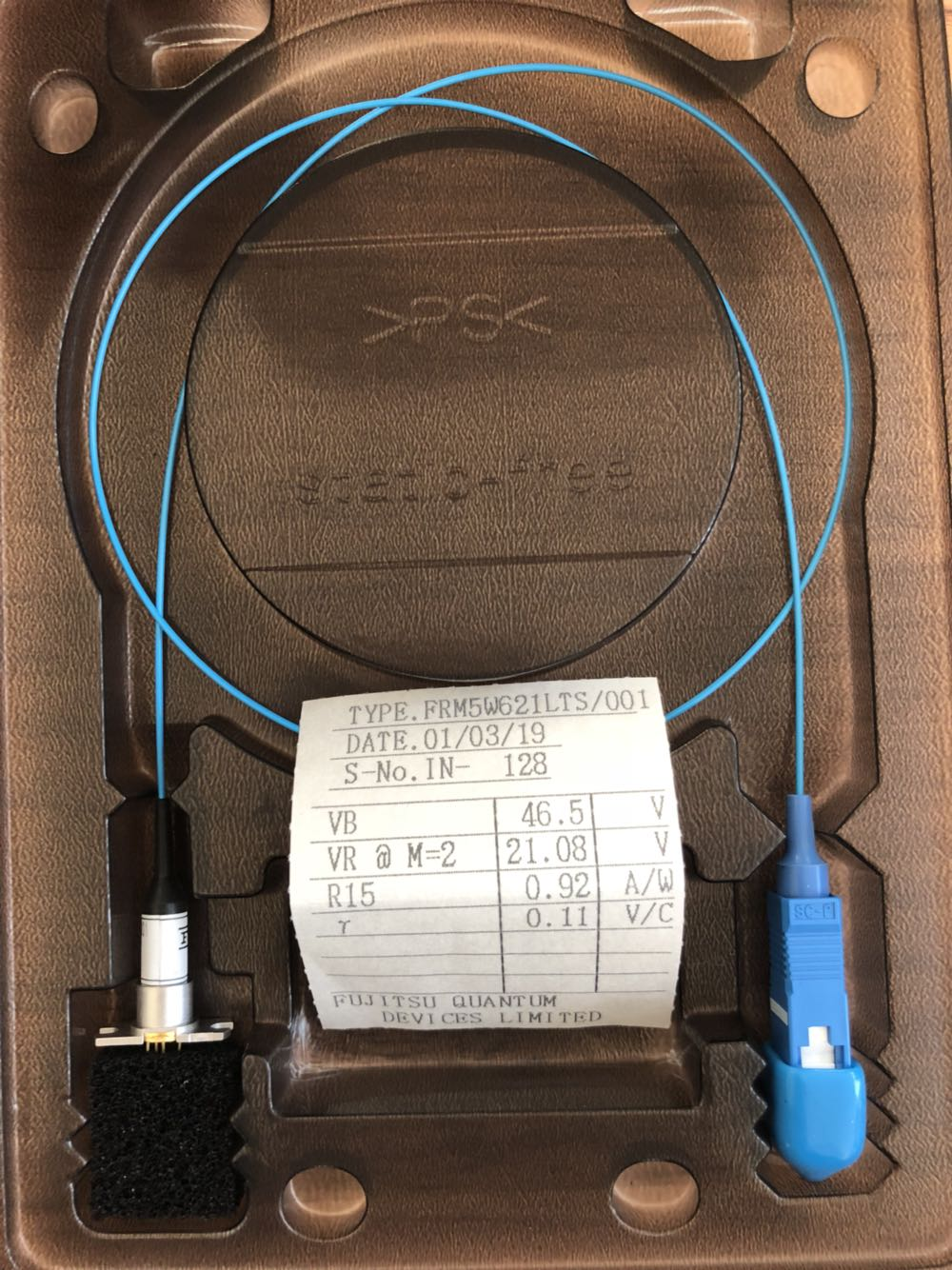 FRM5W621LTS/001 SCPC -34dbm 2.7Gb/s APD fiber photodiode
