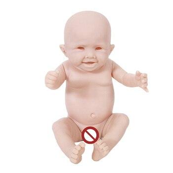 OtardDolls reborn doll kit wholesale unpainted blank doll kit soft vinyl reborn full vinyl body Girl kit