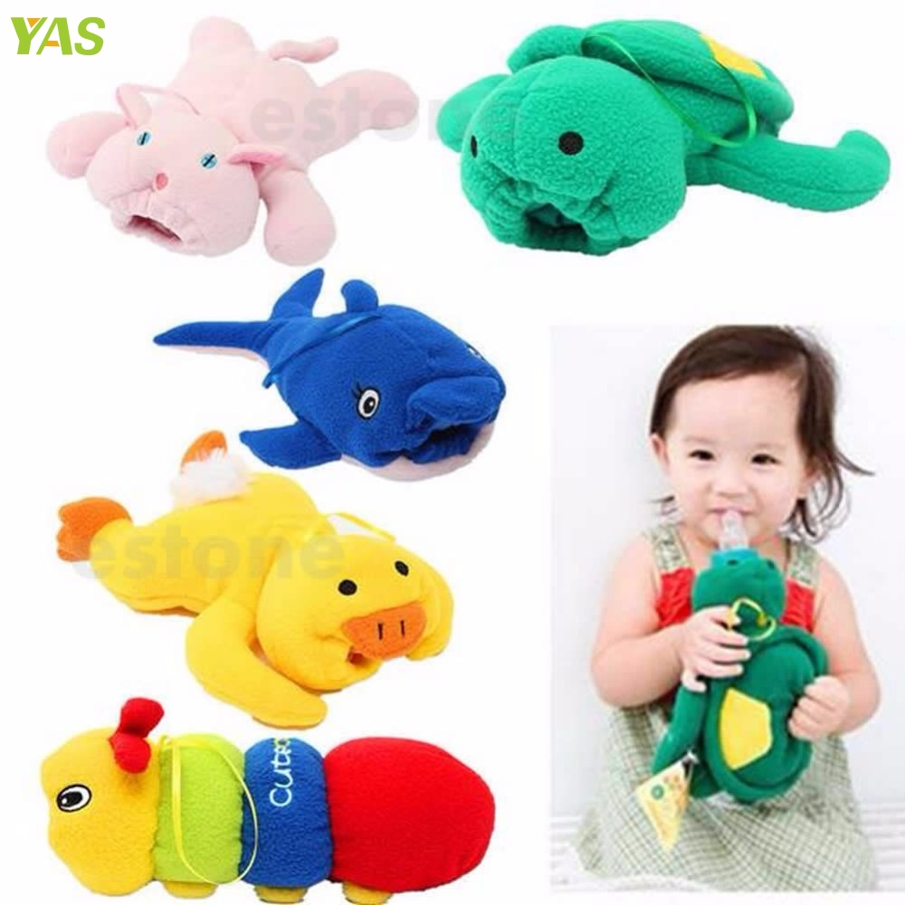 Cute Baby Feeding Bottle Plush Pouch Covers Nursing Keep Warm Holders Case #330