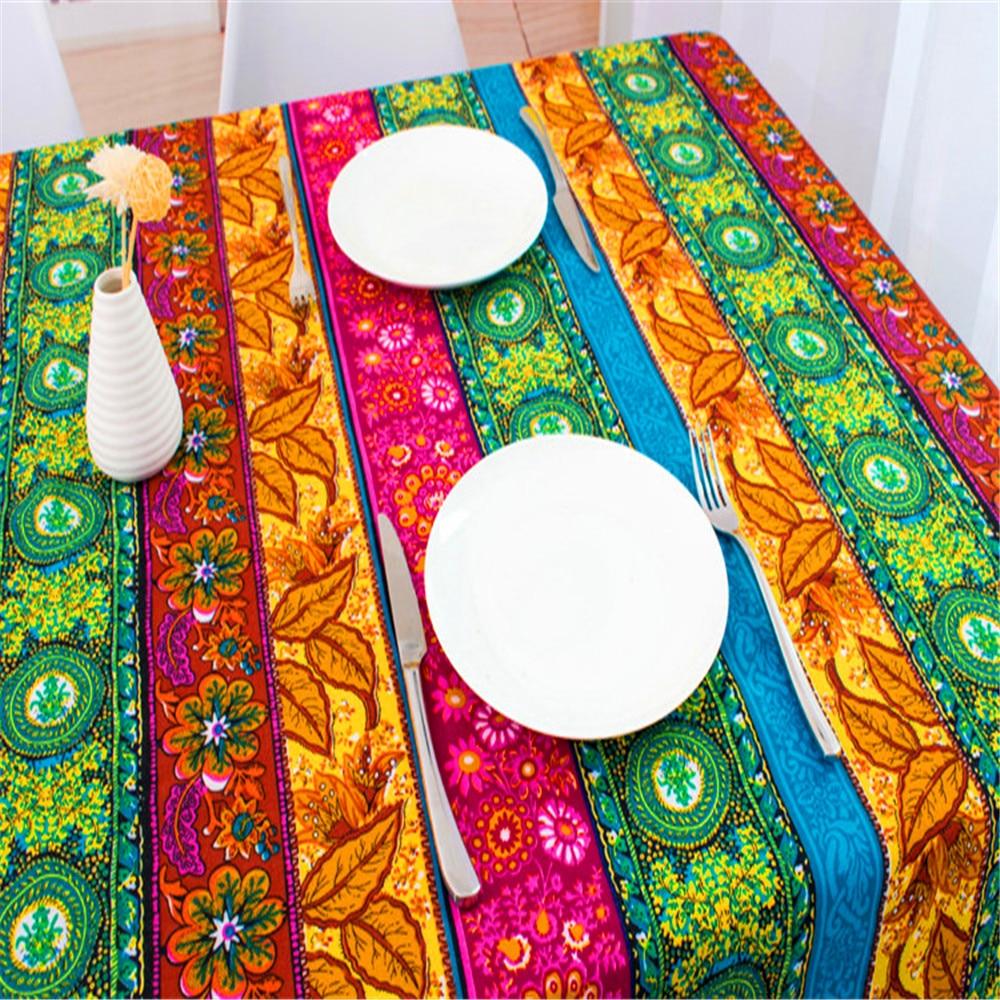 2019 new DIY ethnic bag curtain cotton linen fabrics textile for patchwork sofas materials cloth fabric tissu GF013
