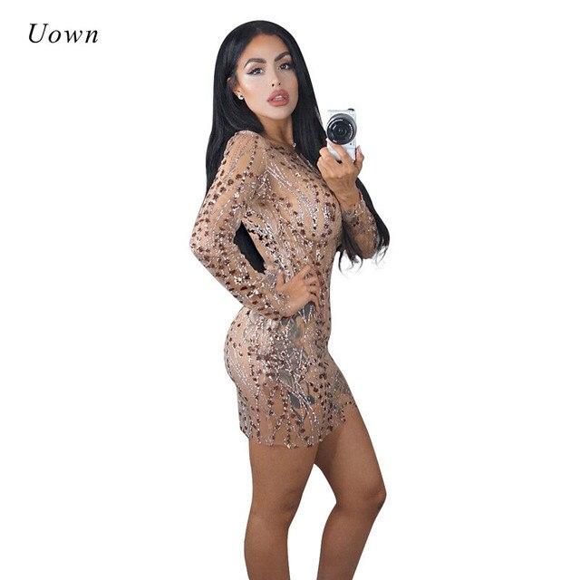 Glitter Sequin Dress Women Autumn 2018 Long Sleeve O Neck Elegant Fall  Dresses Sexy Bodycon Mini Dress Party Clubwear Vestidos 08f9bf4af8ad