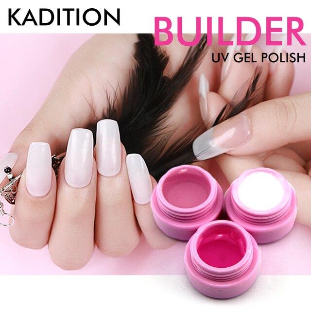 KADITION Hot Pink White Clear 3 Color Options UV Gel Builder Gel ...