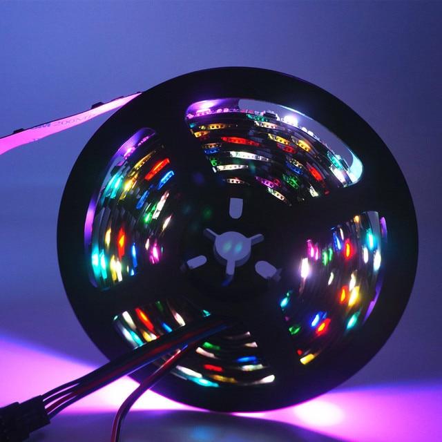 5m/roll DC5V WS2801 rêve couleur 12mm 5050 RGB LED bande adressable 32LED/M Arduino développement ambilight TV blanc ou noir PCB