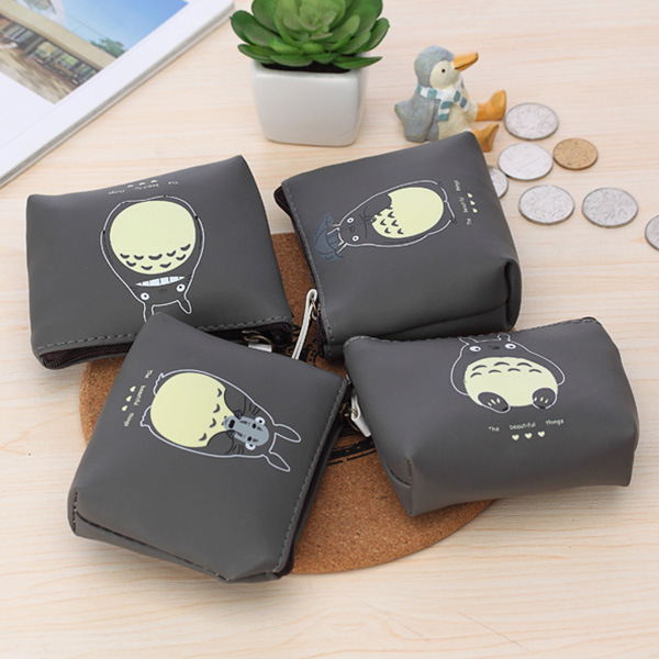 Hot 4 Types Cute Totoro PU Coin Purses Cartoon Lovely Waterproof Mini Storage Bags For Cardholder In-ear Headphone pouch waterproof cartoon cute thermal lunch bags wome lnsulated cooler carry storage picnic bag pouch for student kids