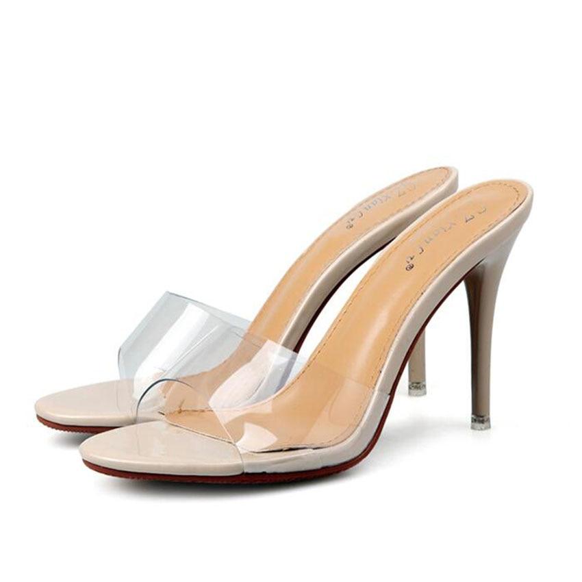 Summer Sandals Heels Ladies Shoes Transparent Women Sandals Sexy High Heels Pumps rhinestone sandals summer shoes women pumps transparent womens shoes heels strappy heels ladies shoes