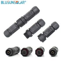 UL sertifikası 10 çift çok M12 Elektronik su geçirmez konnektör LED kullanılan Konektörü 2pin, 3pin, 4pin, 5pin, 6pin 7pin 8 pin