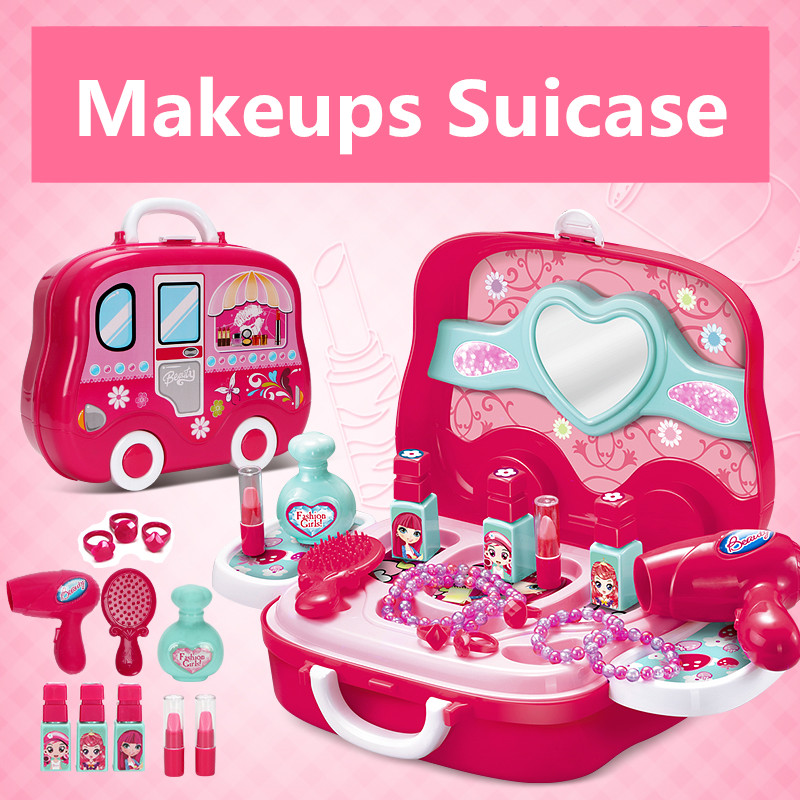 Original Tobay Toys Newest Kids Play House Toys Girl Grooming toys Model Happy Makeup Pretend Play Toys Gift for Kids