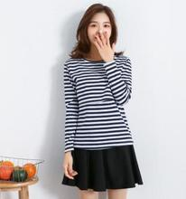 Cotton Striped Maternity Breastfeeding Tops 2018 Spring Fall Nursing Clothes for Pregnant Women Postpartum Feeding Clothes WX202