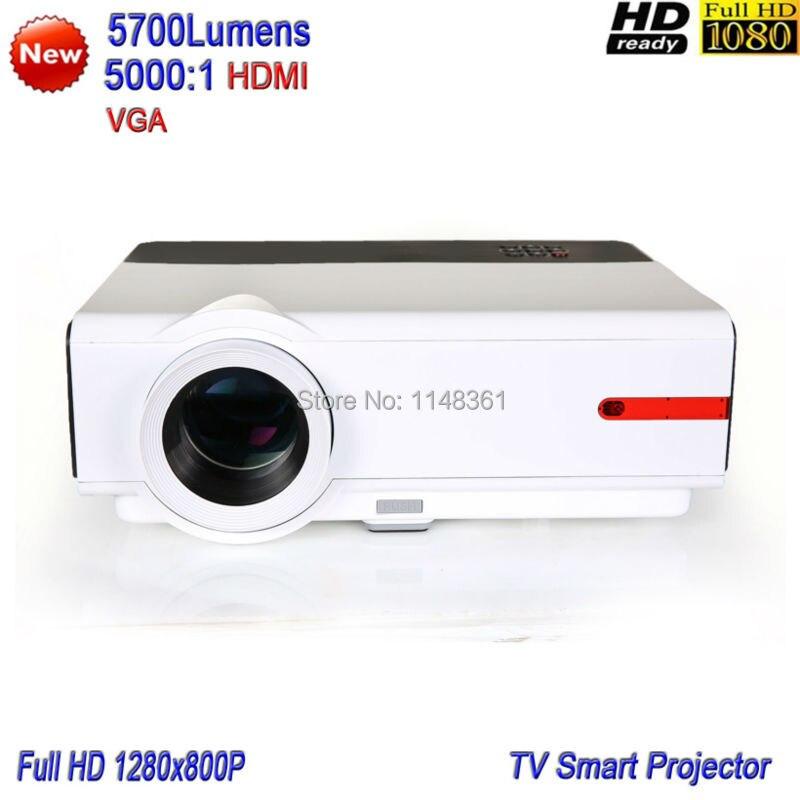 2017 Nuevo LED 5700 lúmenes Proyector Inteligente Full HD 1080 P Proyector del T