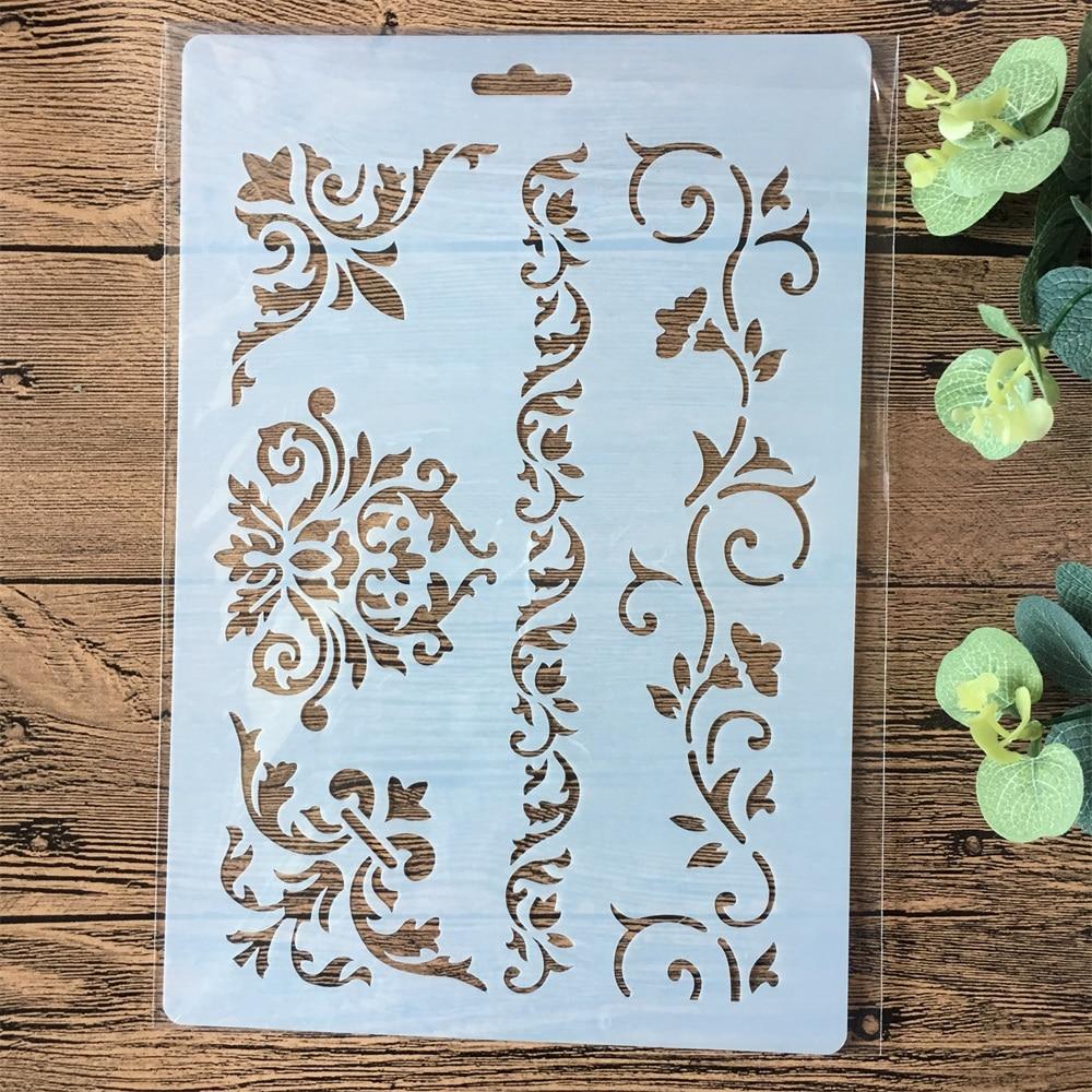 26cm Flower Frame Edge DIY Layering Stencils Painting Scrapbook Coloring Embossing Album Decorative Paper Card Template