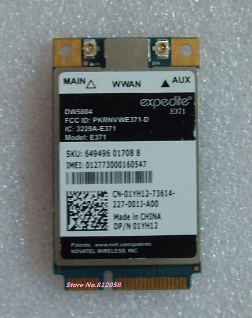 Ssea nuevo desbloqueado 4g lte/wcdma módulo wwan wlan pci-e e371 01yh12 móvil 3g/4g tarjeta para dell dw5804