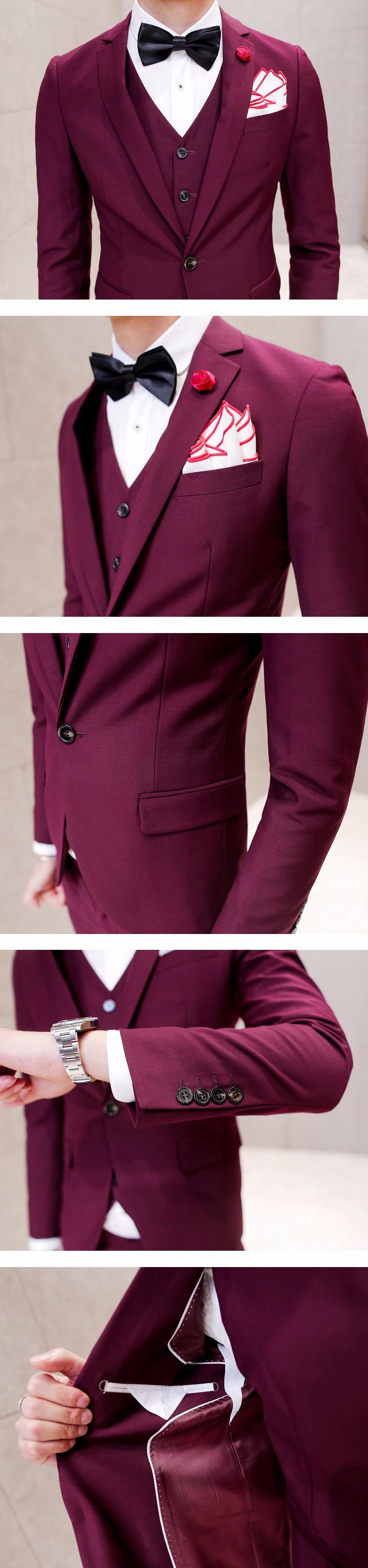 burgundy suit mens