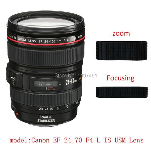 Lente zoom e foco anel de borracha/aperto de borracha reparação succedaneum para canon ef 24-70mm f/4l is usm
