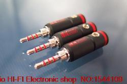 4 stücke UNS RANKO REP-1050 2,5mm stecker ausgewogene durch abschnitt 43 ring rhodium überzogene AK 240 kopfhörer stecker kostenloser versand