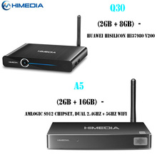 Himedia Q30 Hisilicon HI37980 V200 Quad Core 2G 8G Smart Android 7.1 TV Box & Himedia A5 2GB 16GB Media Player H.265 Set-Top Box