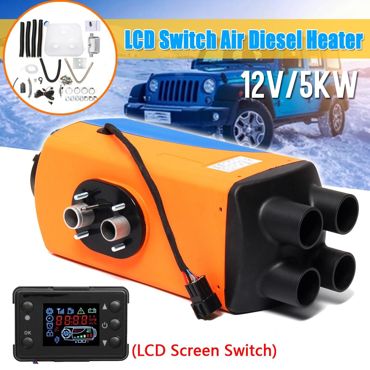 12 v/24 v 3KW/5KW Air Diesels Chauffe Parking Chauffe Diesels Réchauffeur D'air Avec Télécommande LCD Numérique affichage pour Bateau Camping-Car Remorque