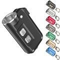 Topsale NITECORE TINI Metall Keychain Licht Gebaut In Batterie Wiederaufladbare KeyButton mini Taschenlampe Im Freien Such Freies Verschiffen-in LED-Taschenlampen aus Licht & Beleuchtung bei