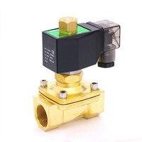 1 1/2 дюйма 2 Вт series электромагнитный клапан нормально открыт электромагнитный клапан латунный воздух, вода, масло, газ