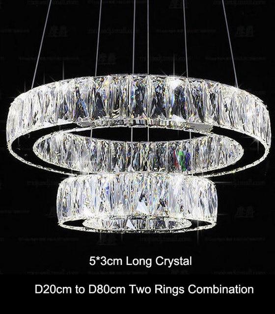 Aliexpress.com : Buy Modern Crystal 2 rings LED pendant lamp ...