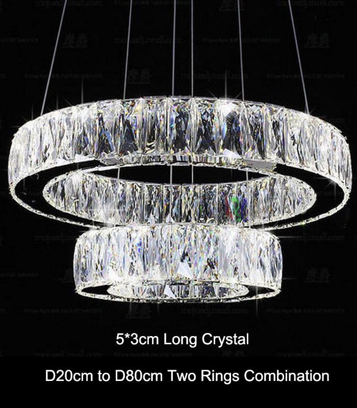 aliexpress.com : acquista moderna lampada di pendente di cristallo ... - Illuminazione Soggiorno E Sala Da Pranzo 2