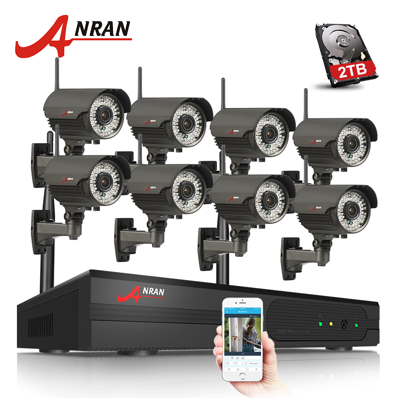 ANRAN Plug And Play 960P HD Varifocal 2.8mm-12mm Outdoor IR Security IP Camera WIFI 8CH H.264 NVR Wireless CCTV System anran plug and play 8ch nvr wifi cctv system p2p 1080p h 264 hd zoom 2 8mm 12mm lens home security wireless ip camera kit
