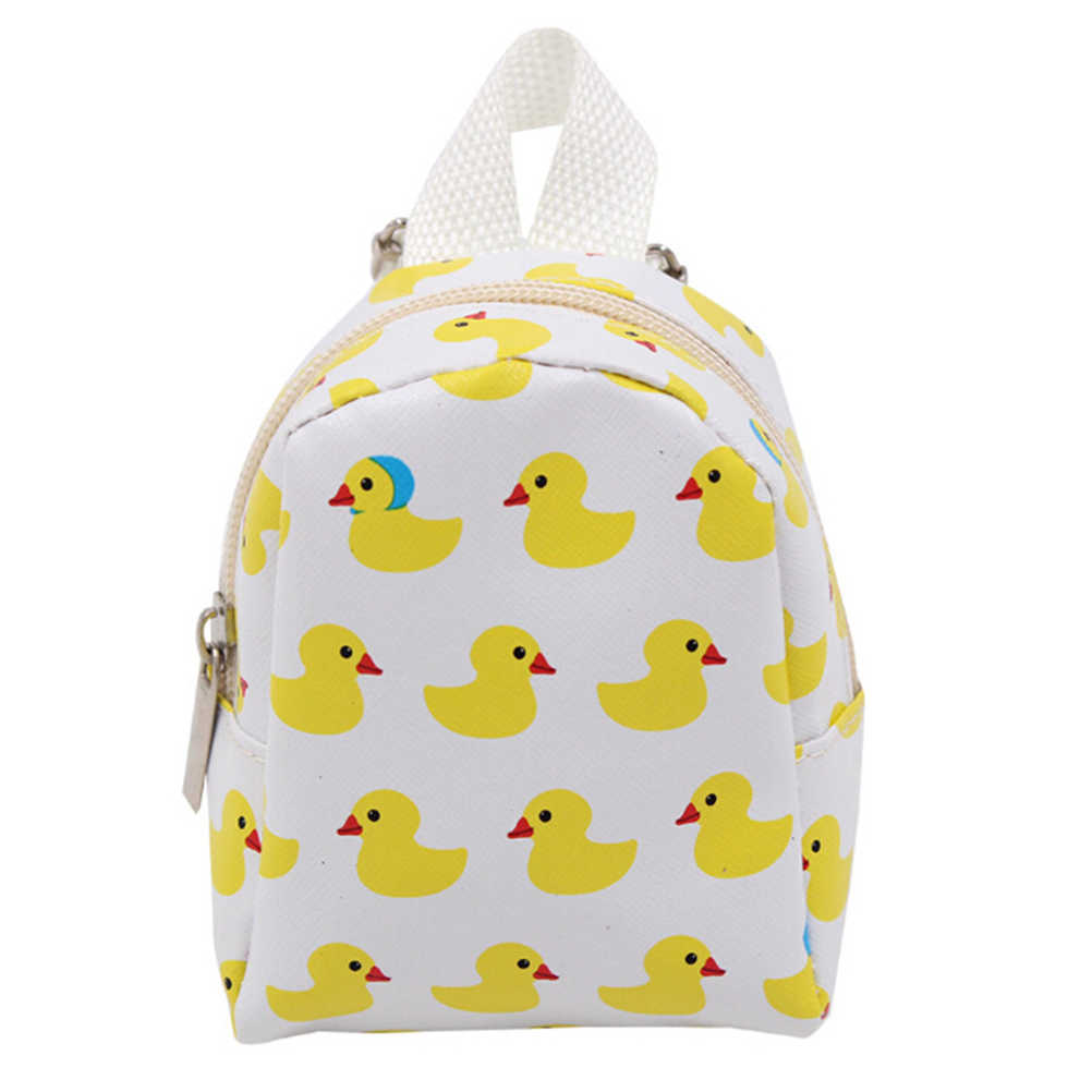 1pcs Plush Cartoon Duck Print Backpack (only Bag) For 18 Inch 16inch Doll Bag For 1/3 American Doll Dolls Backpack Accessories