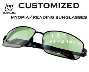 85a6773c943 Clara Vida Large black green MYOPIA Polarized Sunglasses