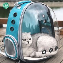 DannyKarl Out Portable Breathable Cat Suit for 15kg Pets The Capsule Bag Carrying Pet Cat Pet Space Backpack Dog Backpacks(China)