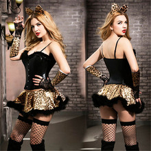 Women Porno Babydoll Lingerie Sexy Hot Erotic Costume CatGirl Cosplay Uniform Leopard Costumes Underwear