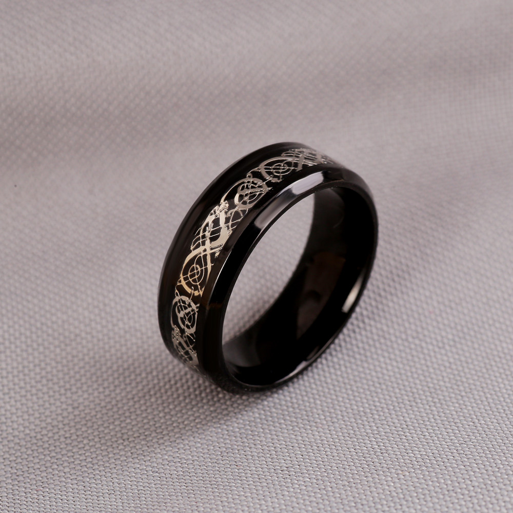 eejart черный нержавеющей стали 316l кольцо для фуршета обручальное голубой углеродного волокна кольцо des nibelungen дракон кольца для мужчин