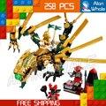258 шт. БЕЛА Ninja 9793 Золотой Дракон Ллойд Джей Коул Кай Строительные Блоки Кирпич Подарки, Совместимые С Lego