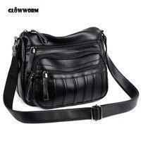 GLOWWORM New Arrival Fashion Cow Leather Hobos Bag Women Messenger Bags Genuine Leather Shoulder Bag Crossbody